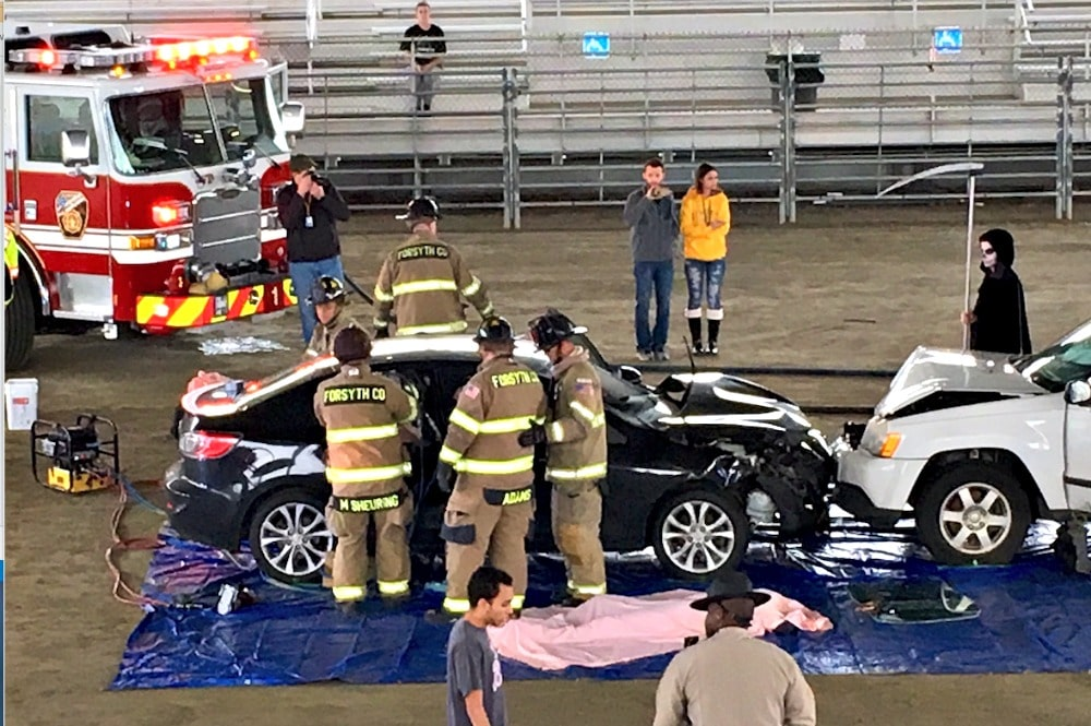 Ghost Out event for teen drivers demonstrates the dangers of impaired driving