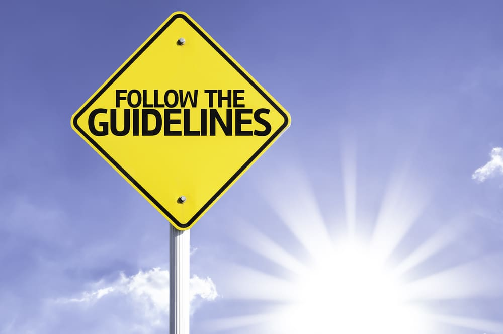 Guidelines sign
