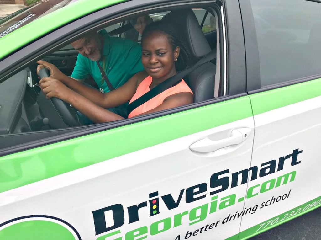 Student in car drive smart georgia